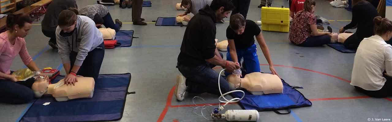 Bijscholing reanimatie (CPR) Hoger Redder RedFed, VTS, Gent - J. Van Laere